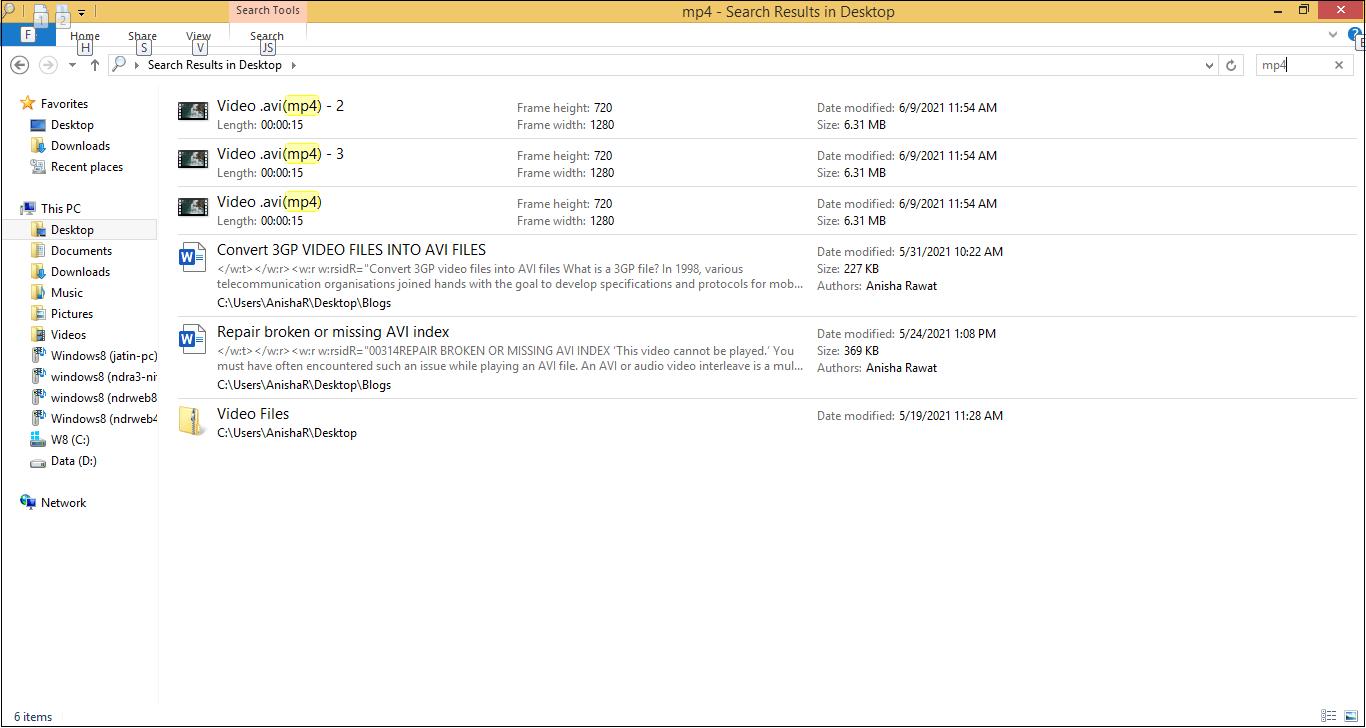 List of MP4 files