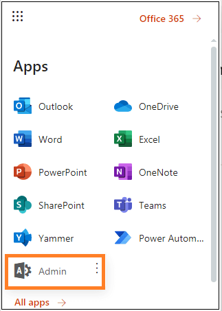 Log in to your destination Office 365 account