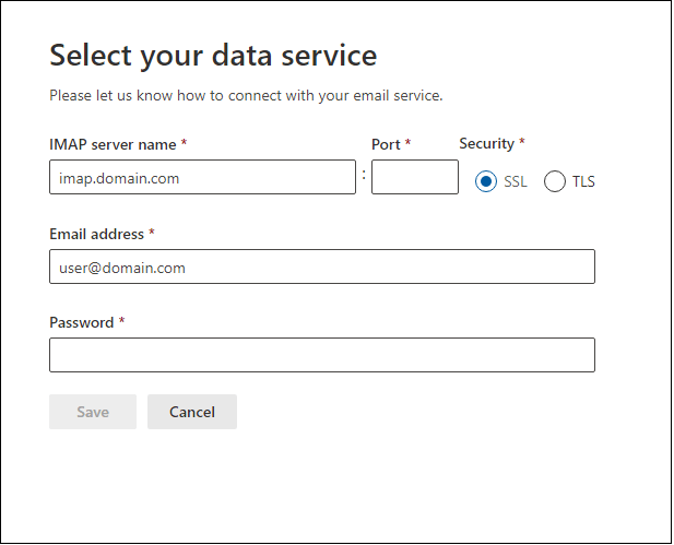 provide the IMAP information details