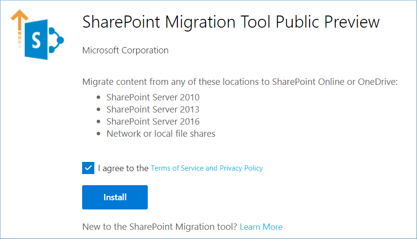 SharePoint Migration tool public preview