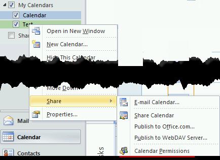 Calendar Permissions