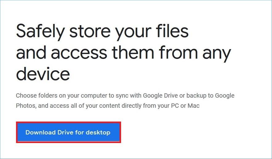 Download Drive for Desktop
