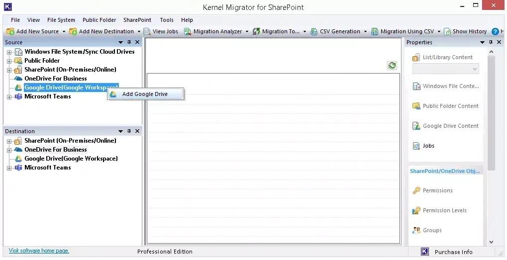 migrate data between two Google Drive accounts
