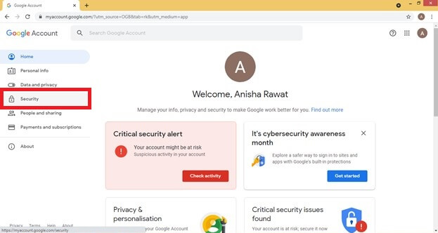 Open Google Account