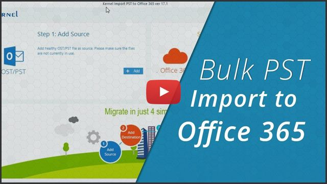 Bulk PST Import to Office 365 video