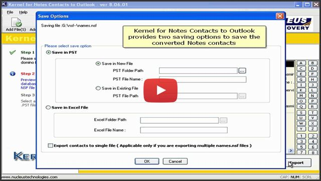 Notes Contacts to Outlook Tool - Convert Lotus Notes