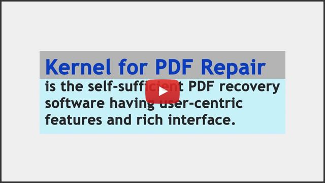 PDF Repair Tool to Repair Inaccessible, Corrupted and Damaged PDF Files