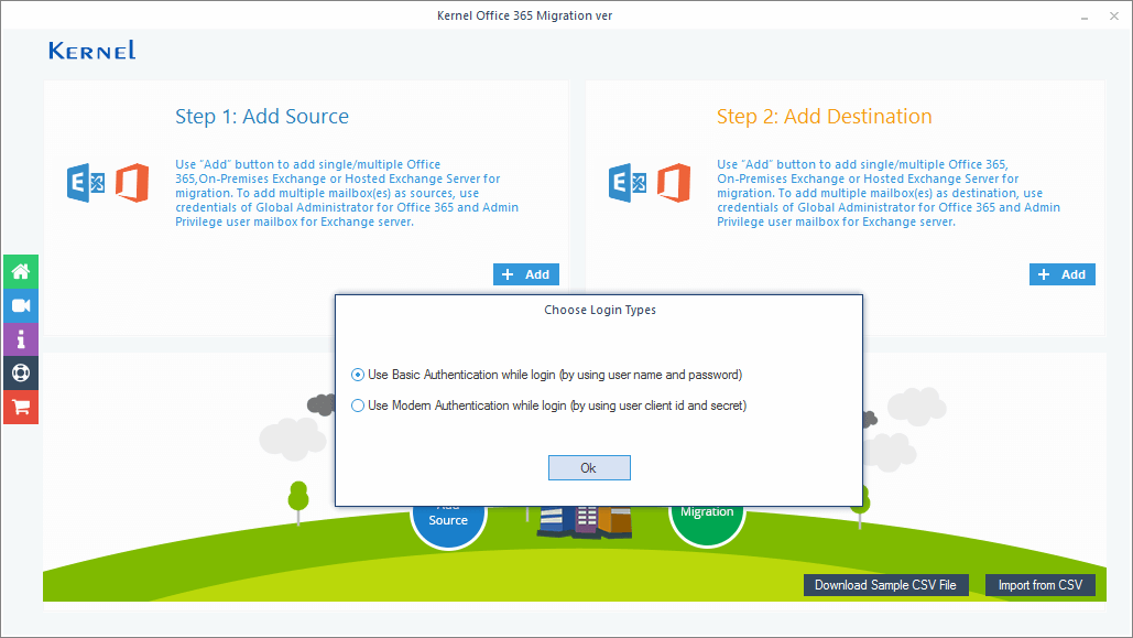 Launch Kernel Office 365 Migration tool