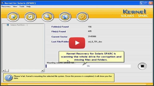 Solaris Sparc Recovery Software to Recover UFS (default