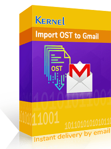 Import OST to Gmail tool box