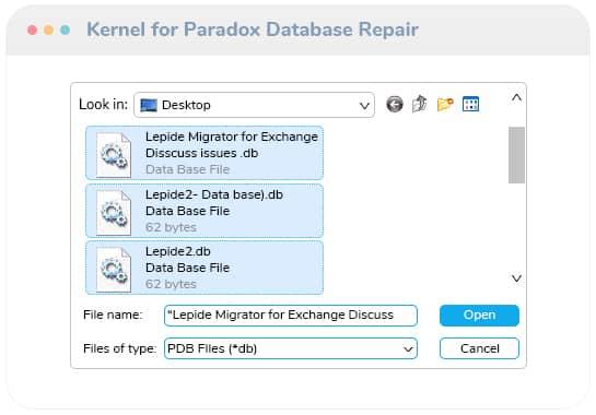 select corrupt Paradox database