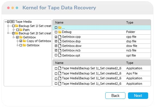 save the recovered files enlisted in a hierarchical structure
