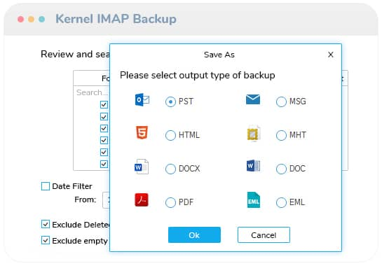 Backup your IMAP mailboxes