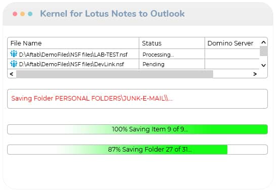 Lotus Notes to Outlook migration in process