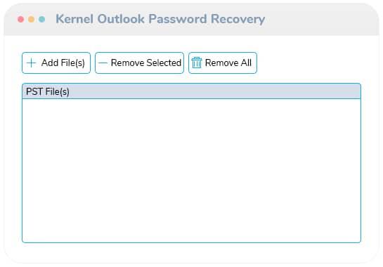 Fügen Sie eine PST-Datei hinzu, um das Kennwort wiederherzustellen.