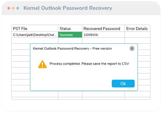 Speichern Sie den Bericht zur Passwortwiederherstellung in einer CSV-Datei.