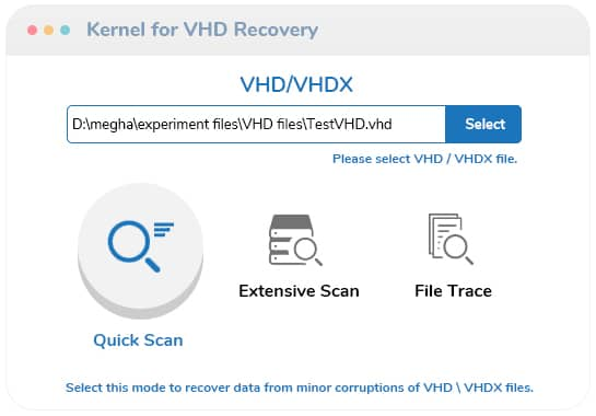 Select the VHD or VHDX files