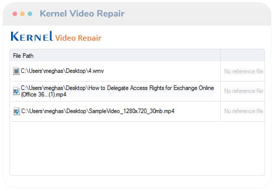 Check the added corrupted video files