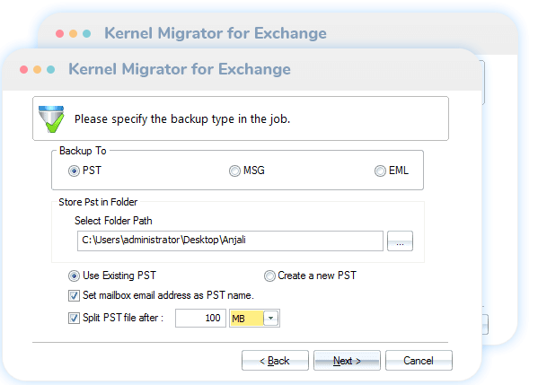 Exchange/Office 365 Backup