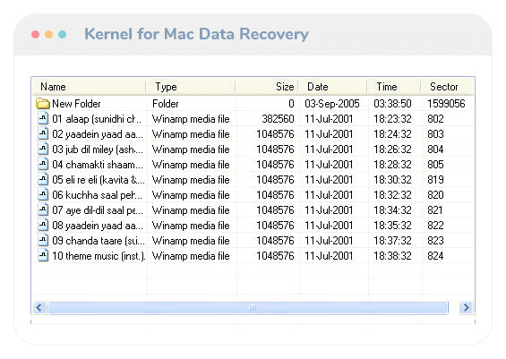 Kernel for Mac Data Recovery