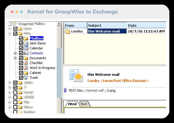 GroupWise to Exchange tool thumb