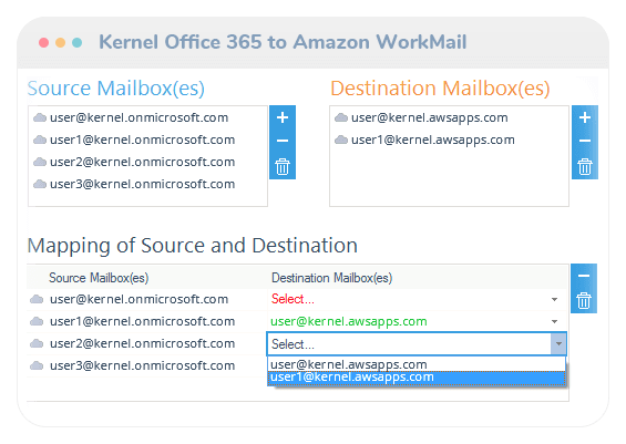 Office 365 to Amazon WorkMail Migration