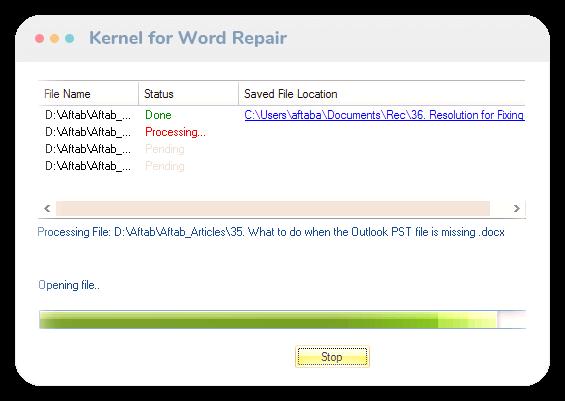 Kernel for Word Repair