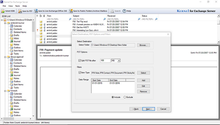 Specify the drive to save recovered file