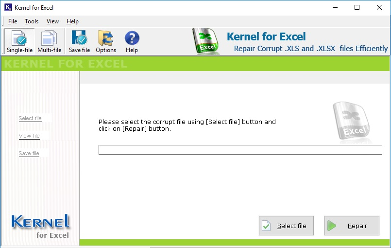 Repair one or more XLS and XLSX files