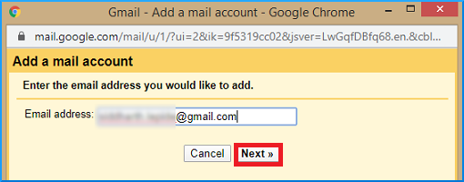 Enther old Gmail account address