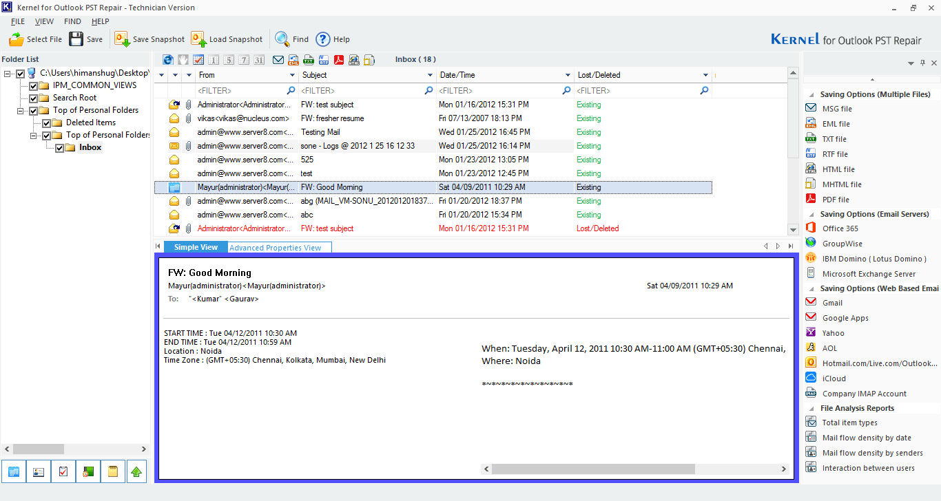 Select the desired platform where you want to export this file