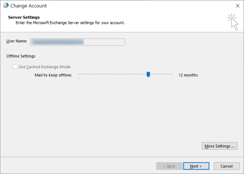 Offline Folder File Settings