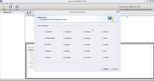 Evolution to PST Tool to Export Evolution Email Items to Outlook