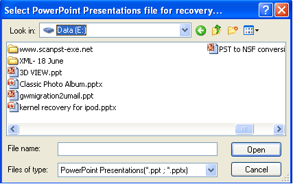 powerpoint recovery mode