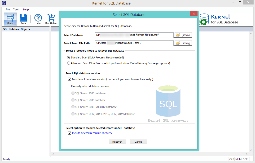 Download SQL server recovery software