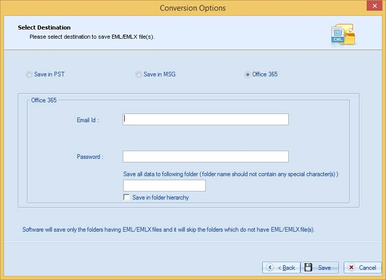 Provide the Office 365 credentials