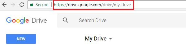 Type the URL in the web browser
