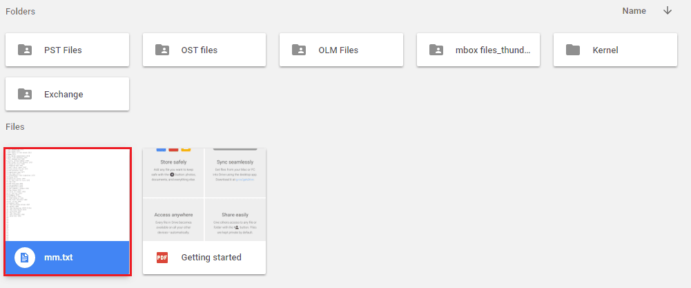 View the saved files on Google Drive