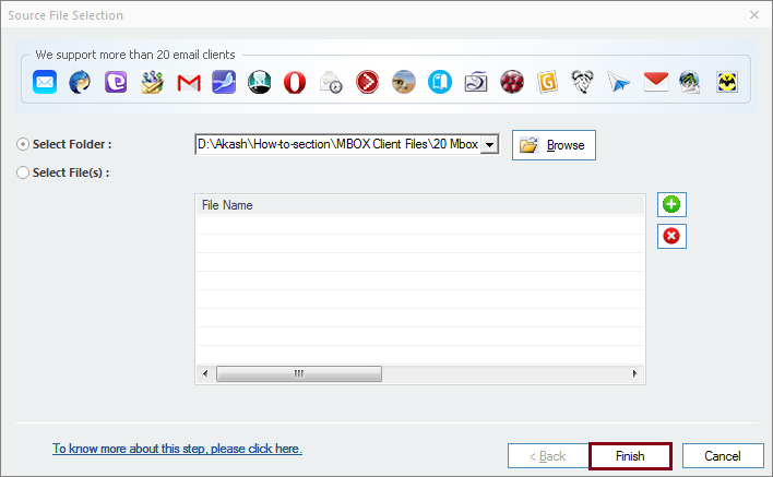 MBOX folder added for Gmail Import