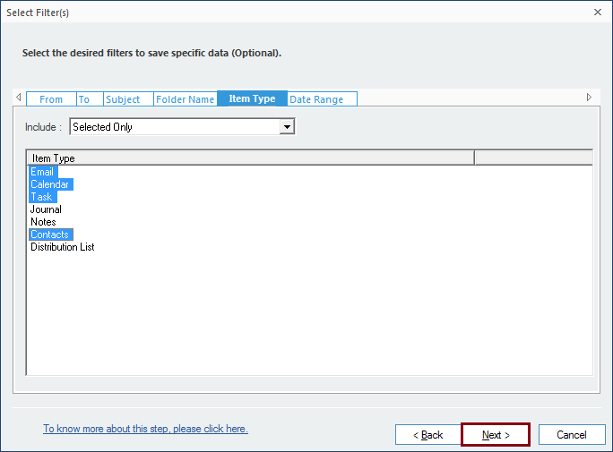 Filtering MBOX data before Gmail Import
