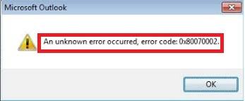 Fix 0x80070002 Outlook Error