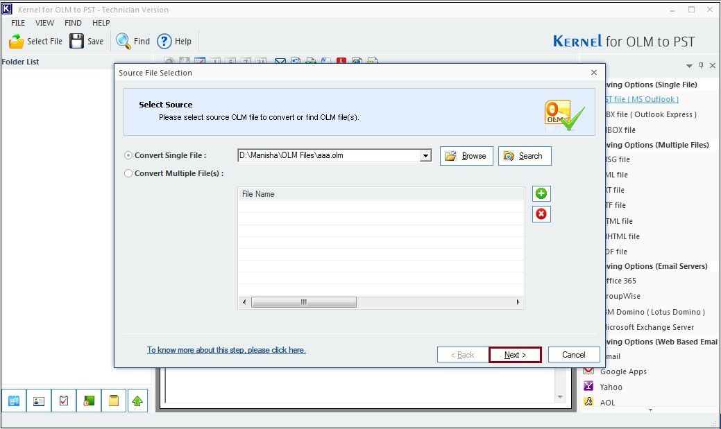 Adding OLM file for migration.