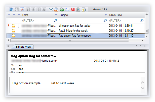 Preview of OLM mailboxes without Outlook for Mac