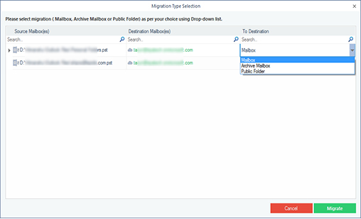 Filter PST data before importing to Office 365