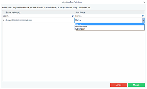 Appy filters before single Office 365 mailbox backup.