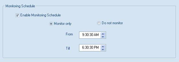 Enable monitoring schedule