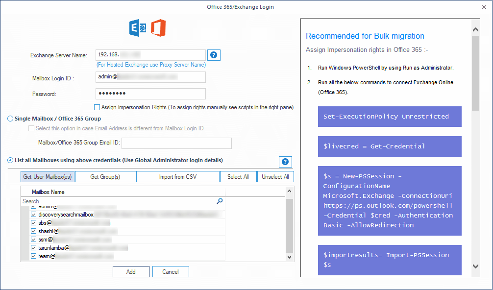 Office 365/Exchange Login page