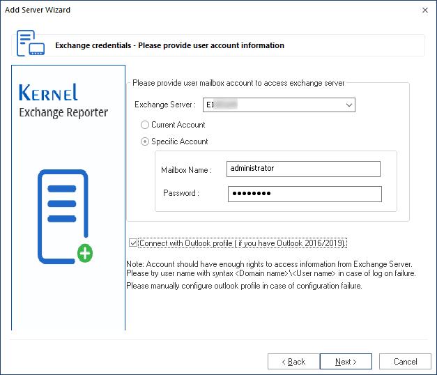 Input user account details