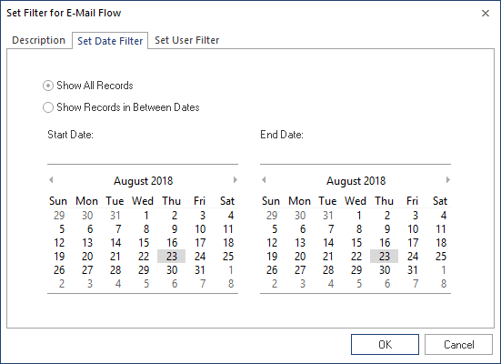 Apply Date Filter for reports.