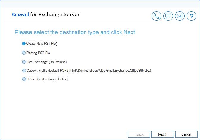 Select 'Create New PST File' option